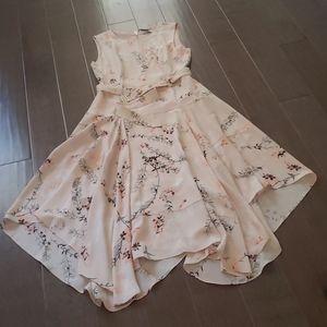 NEW Belted Floral Asymmetrical Summer Dress Shift